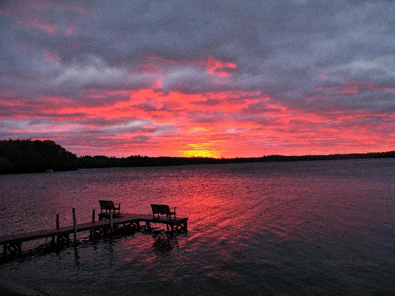 Sunrise on Dam Lake